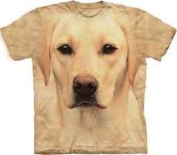 Yellow Lab Shirt Tie Dye Dog Portrait T-shirt Adult Tee