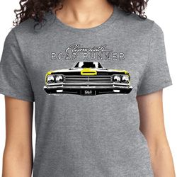 Yellow Plymouth Roadrunner Ladies Dodge Shirts