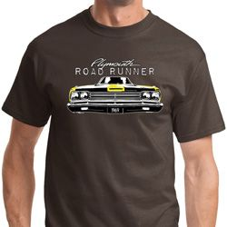Yellow Plymouth Roadrunner Mens Dodge Shirts