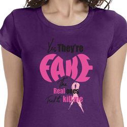 Yes, They're Fake Ladies Breast Cancer Awareness Shirts
