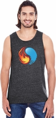 Yin Yang Fire and Water Tri Blend Mens Yoga Tank Top