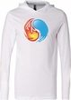 Yin Yang Fire and Water Yoga Lightweight Hoodie