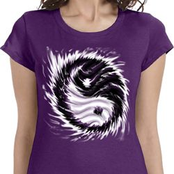 Yin Yang Sun Ladies Yoga Shirts