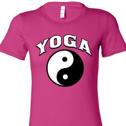 Yin Yang Yoga Arch Ladies Shirts