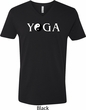 Yin Yang Yoga Text V-neck