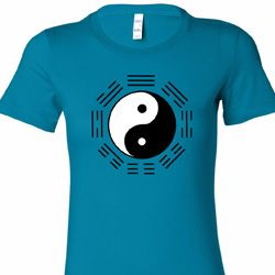 Ying Yang Trigrams Ladies Yoga Shirts