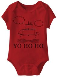 Yo Ho Ho Funny Baby Romper Red Infant Babies Creeper