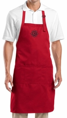 Yoga Apron Black Lotus OM Patch Full Length Apron with Pockets