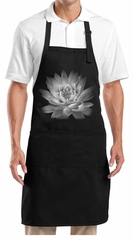 Yoga Apron Lotus Flower Full Length Apron with Pockets