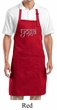 Yoga Apron Sanskrit Yoga Text Full Length Apron with Pockets