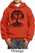 Yoga Black Celtic Tree Kids Hoodie