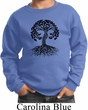 Yoga Black Celtic Tree Kids Sweatshirt