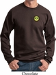 Yoga Buddha Eyes Patch Pocket Print Sweatshirt