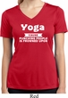Yoga Cause Punching People is Frowned Upon Ladies Moisture Dry V-neck