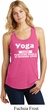 Yoga Cause Punching People is Frowned Upon Ladies Racerback Tank Top