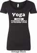 Yoga Cause Punching People is Frowned Upon Ladies Scoop Neck Shirt