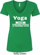 Yoga Cause Punching People is Frowned Upon Ladies V-Neck Shirt