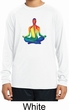 Yoga Chakra Lotus Pose Kids Dry Wicking Long Sleeve Shirt