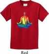 Yoga Chakra Lotus Pose Kids Shirt