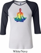 Yoga Chakra Lotus Pose Ladies Raglan Shirt