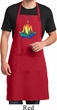 Yoga Chakra Lotus Pose Mens Full Length Apron with Pockets