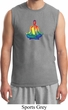 Yoga Chakra Lotus Pose Mens Muscle Shirt