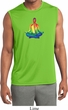 Yoga Chakra Lotus Pose Mens Sleeveless Moisture Wicking Shirt