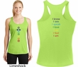 Yoga Chakra Words Front and Back Ladies Dry Wicking Racerback Tank Top