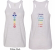 Yoga Chakra Words Front and Back Ladies Flowy Racerback Tanktop