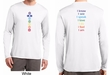 Yoga Chakra Words Front & Back Mens Dry Wicking Long Sleeve Shirt