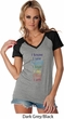 Yoga Chakra Words Ladies Contrast V-Neck Shirt