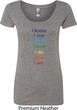 Yoga Chakra Words Ladies Scoop Neck Shirt