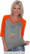 Yoga Chakra Words Ladies Three Quarter Sleeve V-Neck Shirt