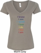 Yoga Chakra Words Ladies V-Neck Shirt