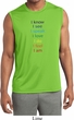 Yoga Chakra Words Mens Sleeveless Moisture Wicking Shirt