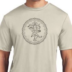 Yoga Circle Ganesha Black Print Moisture Wicking T-shirt