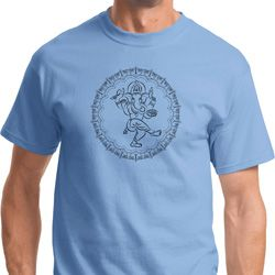 Yoga Circle Ganesha Black Print T-shirt