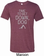 Yoga Get Down Dog Mens Tri Blend Crewneck Shirt