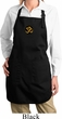 Yoga Gold AUM Patch Ladies Full Length Apron with Pockets