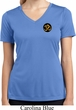 Yoga Gold AUM Patch Pocket Print Ladies Moisture Wicking V-neck Shirt