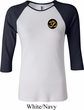 Yoga Gold AUM Patch Pocket Print Ladies Raglan Shirt