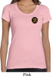 Yoga Gold AUM Patch Pocket Print Ladies Scoop Neck Shirt