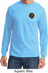 Yoga Gold AUM Patch Pocket Print Long Sleeve Shirt