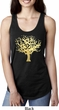 Yoga Gold Foil Tree of Life Ladies Ideal Tank Top