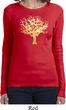Yoga Gold Foil Tree of Life Ladies Long Sleeve Shirt