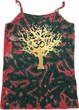 Yoga Gold Foil Tree of Life Ladies Tie Dye Camisole Tank Top