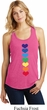 Yoga Heart Chakras Ladies Racerback Tank Top