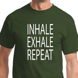 Yoga Inhale Exhale Repeat Adult Shirt