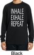 Yoga Inhale Exhale Repeat Kids Dry Wicking Long Sleeve Shirt