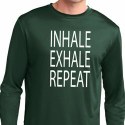 Yoga Inhale Exhale Repeat Mens Dry Wicking Long Sleeve Shirt